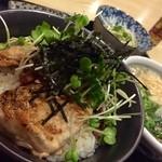 クアテルメ宝泉坊 レストラン - ミニ豚丼+そばセット