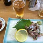 磯料理 いそや - 鯵のタタキ700円