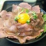 四つ葉 - ローストビーフ丼650円