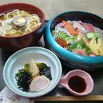 和の食彩 吉楽庵 - ちらし寿司セット(麺は選べます)