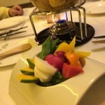 ハミーズ カフェ ダイニング - チーズフォンデュとセットの温野菜