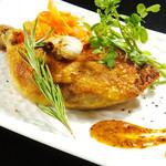 鉄板焼 GAGNER - 骨付き鳥モモ肉のコンフィ