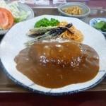 キッチン楽笑 - 料理写真:ハンバーグ定食