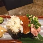 福福屋 - 海鮮三種呑みぶっかけ寿司‼️ メニューだとかなりこぼれていたのだが…