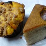 焼菓子店 粉麦 - かぼちゃとクリームチーズのマフィンと栗のバターケーキ