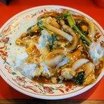 あけぼのラーメン - 料理写真:中華カツ丼