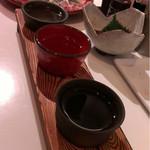 蕎麦 魯庵 - 日本酒飲み比べセット1000円(税抜き)