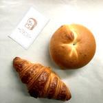 ヤシパン - 料理写真:プレーンベーグルとクロワッサン
