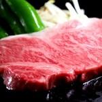 ぽんぽこ本゜舗 - とにかく柔らかな霜降りサーロインステーキ