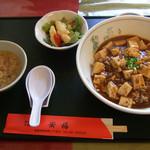 中国菜館 安福 - 料理写真:日替わりランチ(マーボー丼)