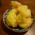 い草製麺所 - サービス野菜天