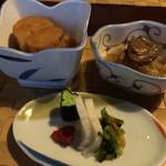 珠玉や - 長芋煮&漬物