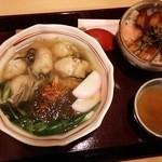 43011187 - 牡蠣そば+ミニ穴子丼セット