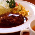 須田町食堂 - ハンバーグランチ 980円