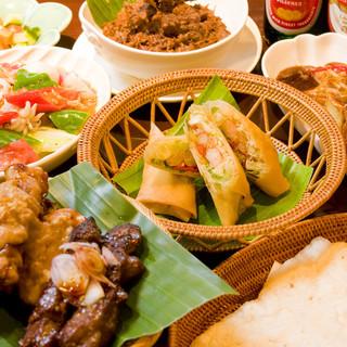 本場仕込みの本格インドネシア料理を堪能