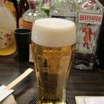 KushiyakiBar我が家 - 生ビールのグラスがいいなぁ