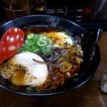 43103521 - とんこつ黒らーめん+鶏飯