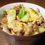 ハンモック - 料理写真:人気メニュー!豊のしゃも親子丼¥800※献上米(塚原産)使用。豊のしゃも卵使用。