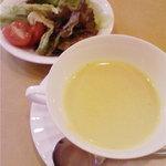 4313419 - ランチセットのサラダとスープ