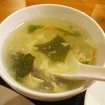 哈爾濱  - 「五目野菜炒め」中華スープ