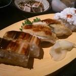 一張羅 - 穴子のお寿司3種盛り (穴子寿司御膳)