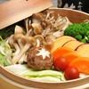 彩り野菜ときのこの蒸篭蒸