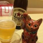 和味餃子 - 餃子といえば、やっぱりビール!赤星です。