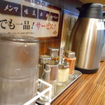 麺食い 慎太郎 - 卓上