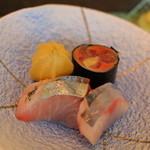 群来膳 - 3点盛り 秋刀魚・シマアジ・鰊