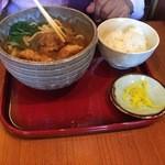 戸隠 - 京地鶏天カレーうどん定食