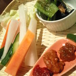 フォーティーセブン・キッチン - ご当地特産BAR(会津おかず味噌と野菜)