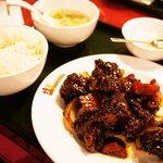 桂園 香港酒家 - ヘルシー黒酢鶏肉定食