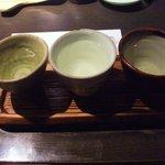 手打ち蕎麦 銀杏 - 日本酒飲み比べ