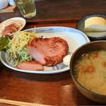 博多もと山 - ロースハム定食(日替定食)