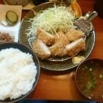 とんかつ一里塚 - 一口かつ定食