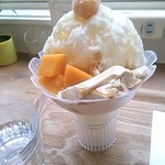 財宝パーラー - わた雪かき氷(ミルク)