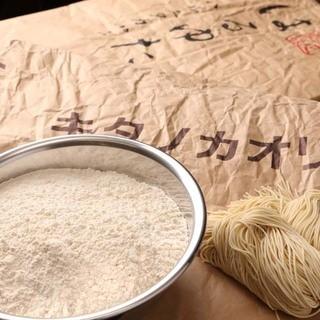 北海道産小麦100%の自家製麺