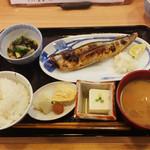 43212075 - [ランチの定食]新さんま塩焼き(税込930円)