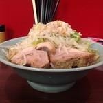 龍麺 ふえ郎 - ラーメン大(豚2枚)400gのヤサイマシ、アブラマシ 【790円】