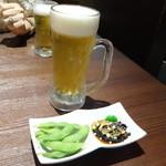 包龍 - 突出しとサッポロビール