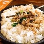 麺 みの作 - 鉄焼き飯セットA「鉄焼き飯」