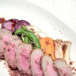 アクア ピッコラ - 阿波牛のタリアータの付け合せ野菜 '15 7月下旬