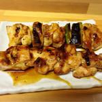 男のBBQ - 料理写真:鶏とはさみ♩
