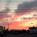 スカラベ136 - パッと出たらこんなキレイな夕焼け。