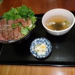 一 - サーロインステーキ丼  1350円税別