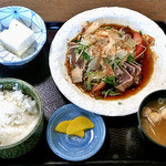 大衆割烹八珍柿 - カツオのたたき定食(2015年10月)