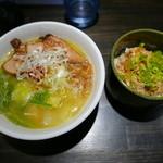 京都祇園 泉 麺家 - 鶏白湯ラーメン+本日のミニ丼(900円)