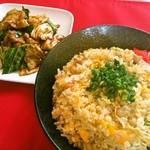 大盛 満腹 食堂 まんが喫茶はなこ - 炒飯+回鍋肉