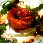 オステリア ニコ - 生ハムとチーズを詰めたマッシュルームのオーブン焼き