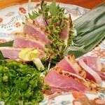 Kitchen 古時計 - 薩摩地鶏もも肉タタキ刺し